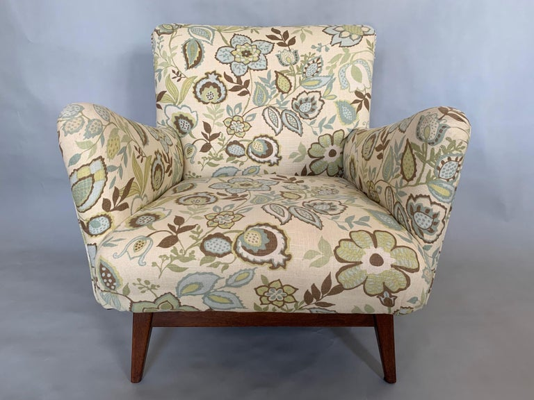 Upholstery Jens Risom Upholstered Lounge Chair For Sale