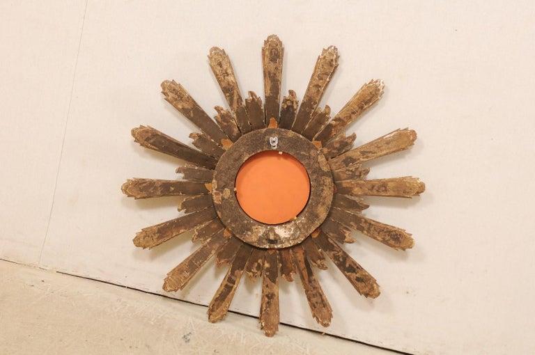 Joyous Early 20th Century Spanish Gilt Sunburst Ray Mirror 6