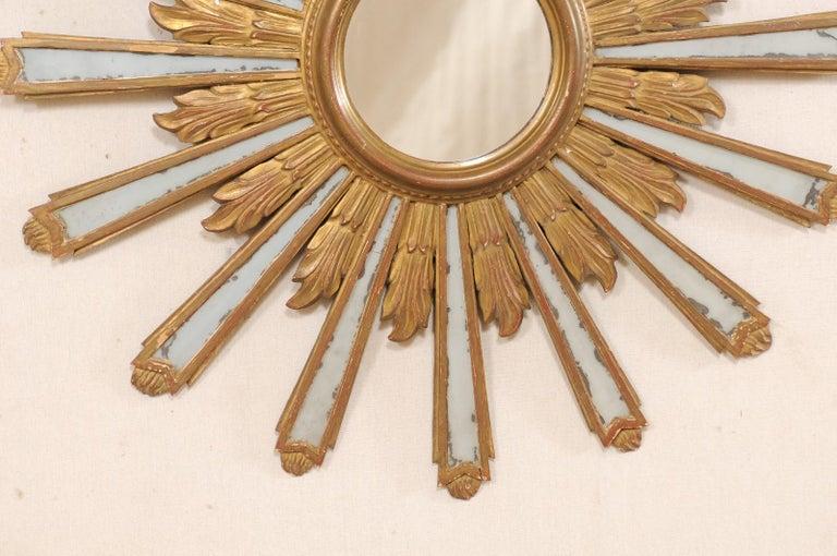 Joyous Early 20th Century Spanish Gilt Sunburst Ray Mirror 2