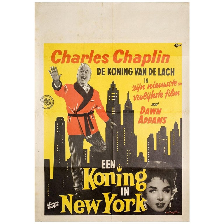 A King in New York 1957 Dutch Film Poster For Sale