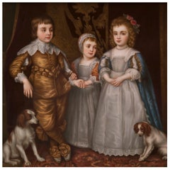 A KPM Porcelain Plaque After The Painting By Sir Anthony van Dyck, Circa 1890