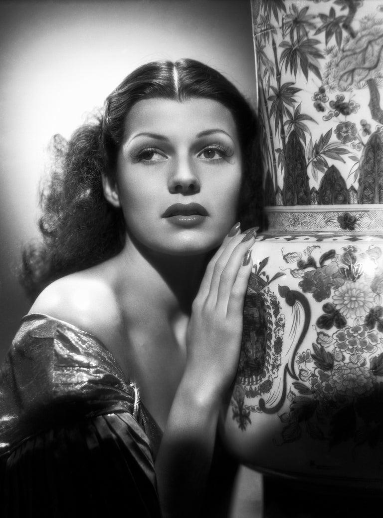 A.L. Whitey Schafer Black and White Photograph - Rita Hayworth Classical Glamour Fine Art Print