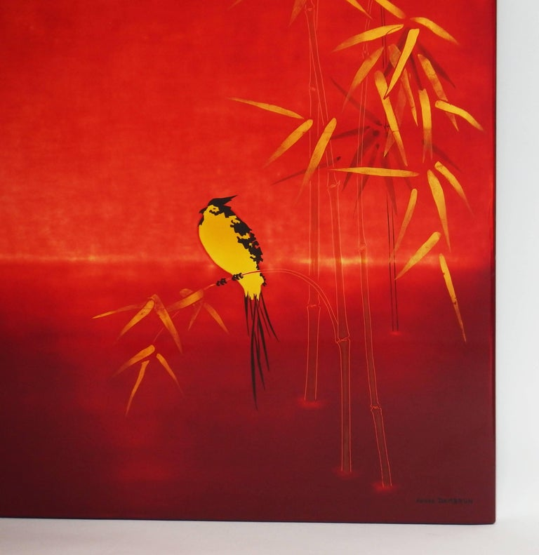 Mid-Century Modern Lacquered Panel by Bernard Dunand For Sale