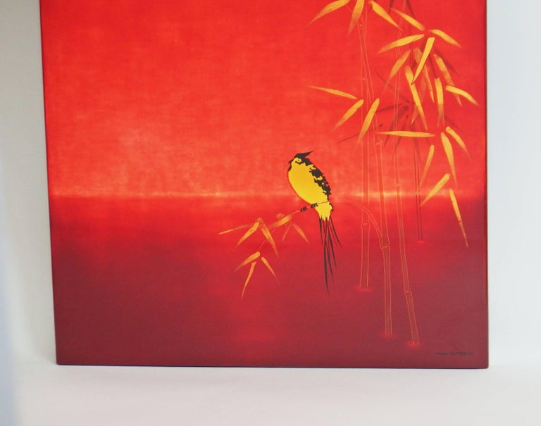 French Lacquered Panel by Bernard Dunand For Sale