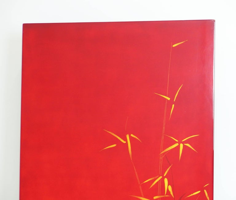 Mid-20th Century Lacquered Panel by Bernard Dunand For Sale