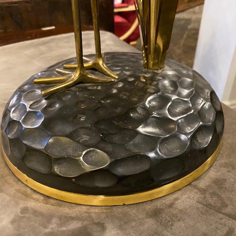 Lanciotto Galeotti Mid-Century Modern Brass Italian Table Lamp, circa 1950 For Sale 9