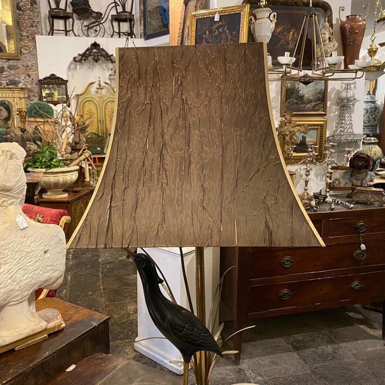 Hollywood Regency Lanciotto Galeotti Mid-Century Modern Brass Italian Table Lamp, circa 1950 For Sale