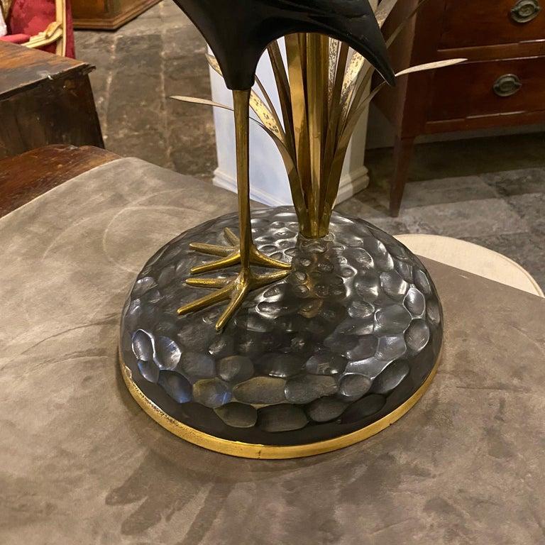 20th Century Lanciotto Galeotti Mid-Century Modern Brass Italian Table Lamp, circa 1950 For Sale