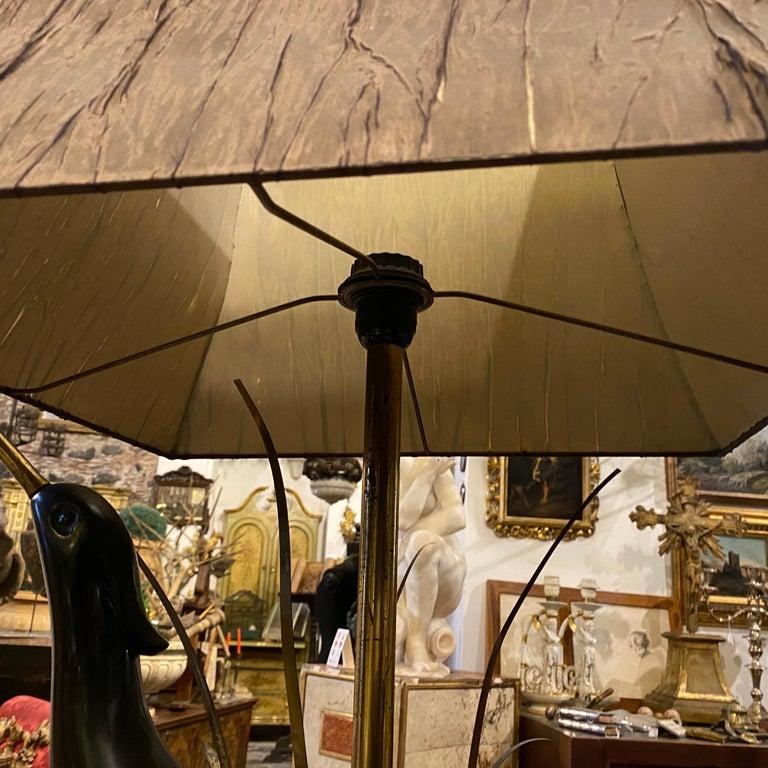 Lanciotto Galeotti Mid-Century Modern Brass Italian Table Lamp, circa 1950 For Sale 1