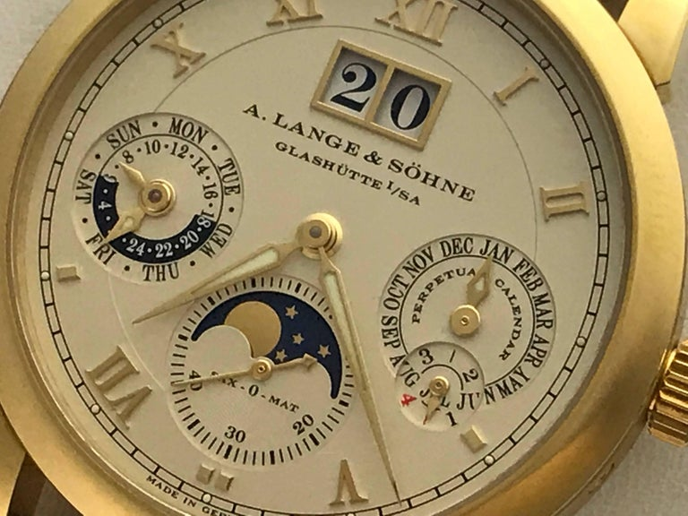 A Lange And S 246 Hne Yellow Gold Langematik Perpetual