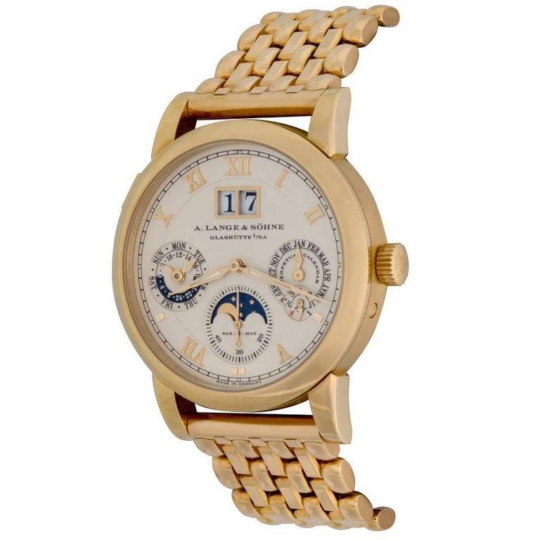A. Lange & Söhne Yellow Gold Langematik Perpetual Calendar Automatic Wristwatch