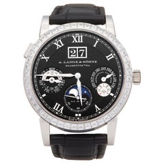A Lange and Sohne Langematik Diamond Platinum 820036 Wristwatch