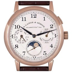 A. Lange & Sohne 1815 Annual Calendar Rose Gold Silver Dial 238.032 Watch