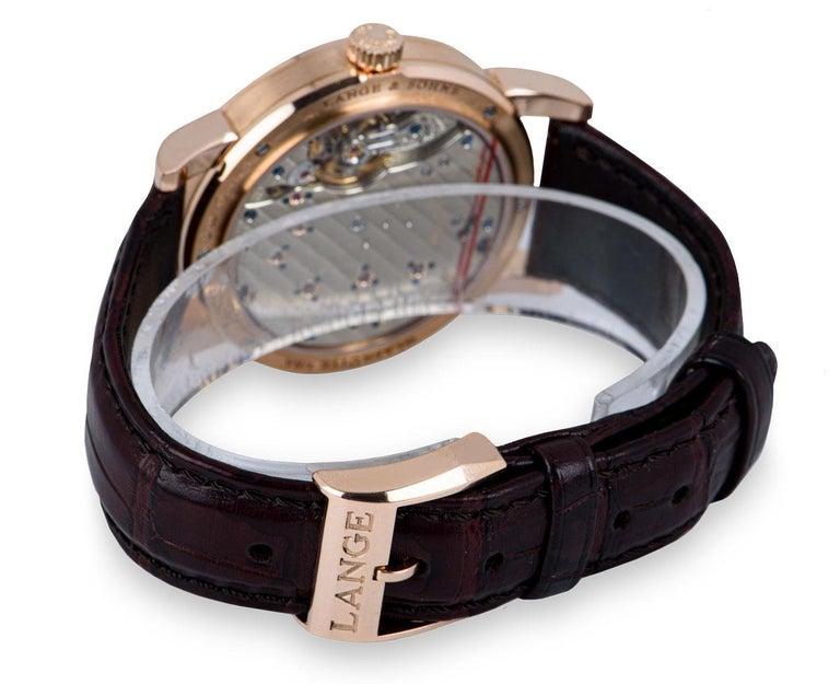 A. Lange & Sohne Lange 1 18k Rose Gold Argente Silver Dial 191.032/LSLS1914AD For Sale 2