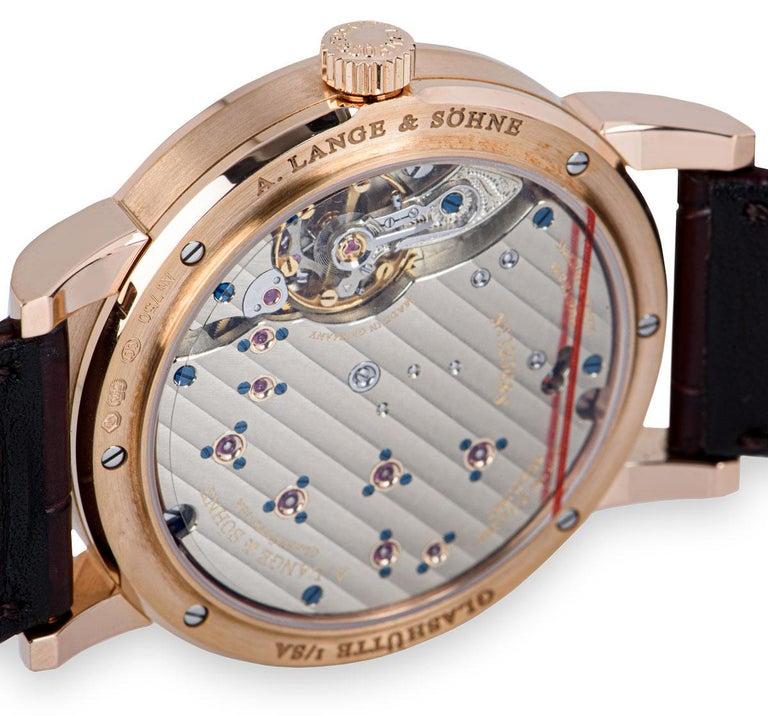 A. Lange & Sohne Lange 1 18k Rose Gold Argente Silver Dial 191.032/LSLS1914AD For Sale 3