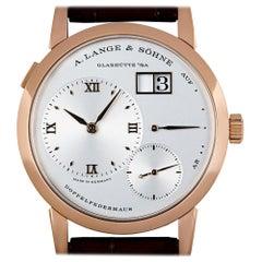 A. Lange & Sohne Lange 1 18k Rose Gold Argente Silver Dial 191.032/LSLS1914AD