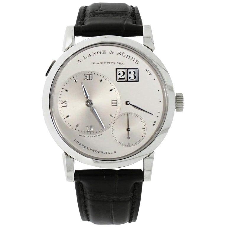 "A. Lange & Söhne ""Lange 1"" Platinum Wristwatch For Sale"