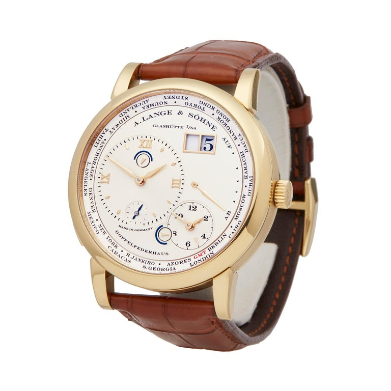 Reference: W5492 Manufacturer: A. Lange & Sohne Model: Lange 1 Model Reference: 116.021 Age: 2nd May 2006 Gender: Men's Box and Papers: Box, Manuals and Guarantee Dial: Silver Roman Glass: Sapphire Crystal Movement: Mechanical Wind Water Resistance: