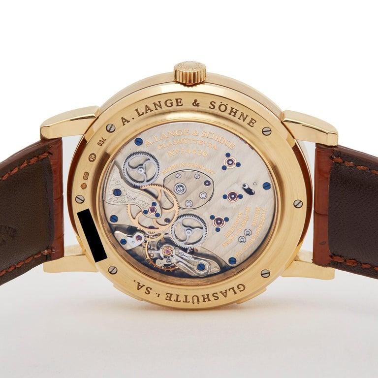 A. Lange & Söhne Lange 1 World Timer 18 Karat Yellow Gold 116.021 For Sale 2