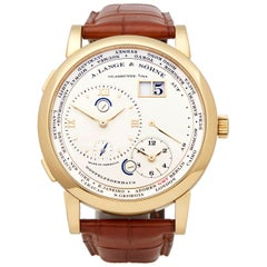A. Lange & Söhne Lange 1 World Timer 18 Karat Yellow Gold 116.021