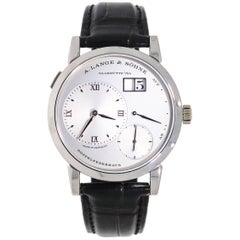 A. Lange & Söhne Platinum Lange 1 Manual Wristwatch