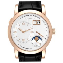A. Lange Sohne Rose Gold Moonphase Men's Watch 109.032 Box Papers