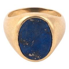 Lapis Lazuli 18 Karat Yellow Gold Ring