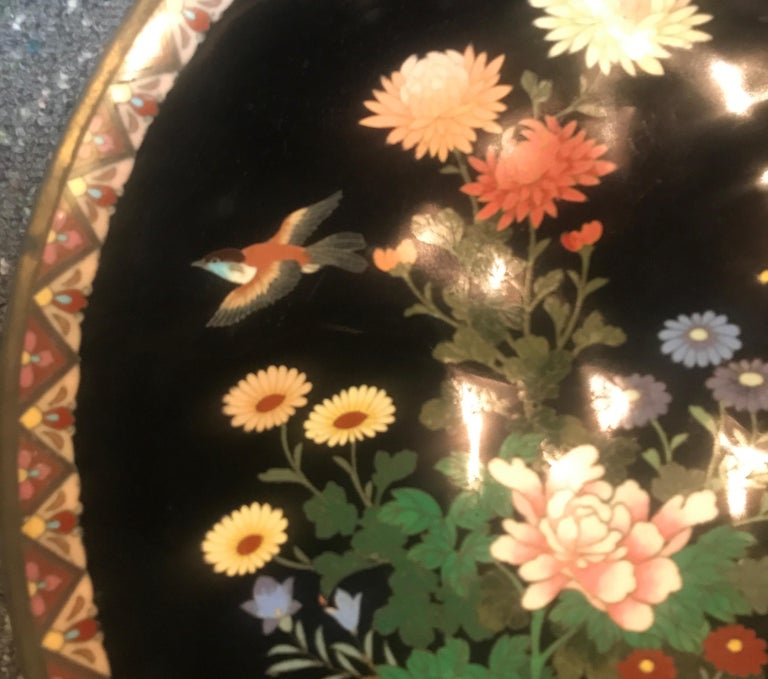 Late 19th Century Meiji Period Japanese Cloisonné Charger For Sale