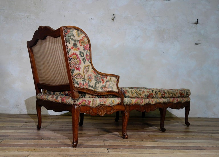 Large 18th Century French Chaise Longue, Day Bed 7