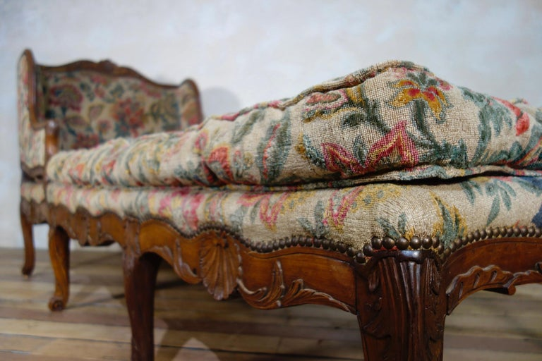 18th Century and Earlier Large 18th Century French Chaise Longue, Day Bed