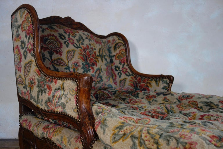 Large 18th Century French Chaise Longue, Day Bed 1