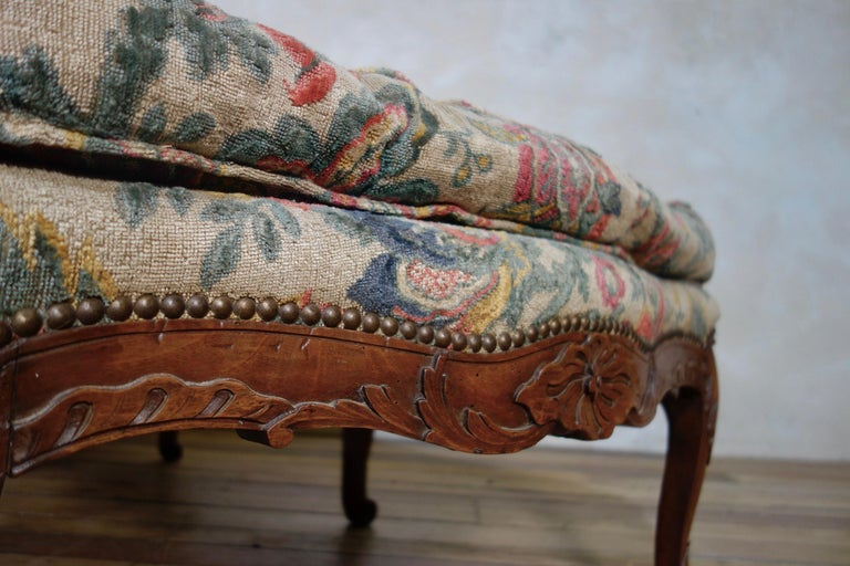 Large 18th Century French Chaise Longue, Day Bed 4