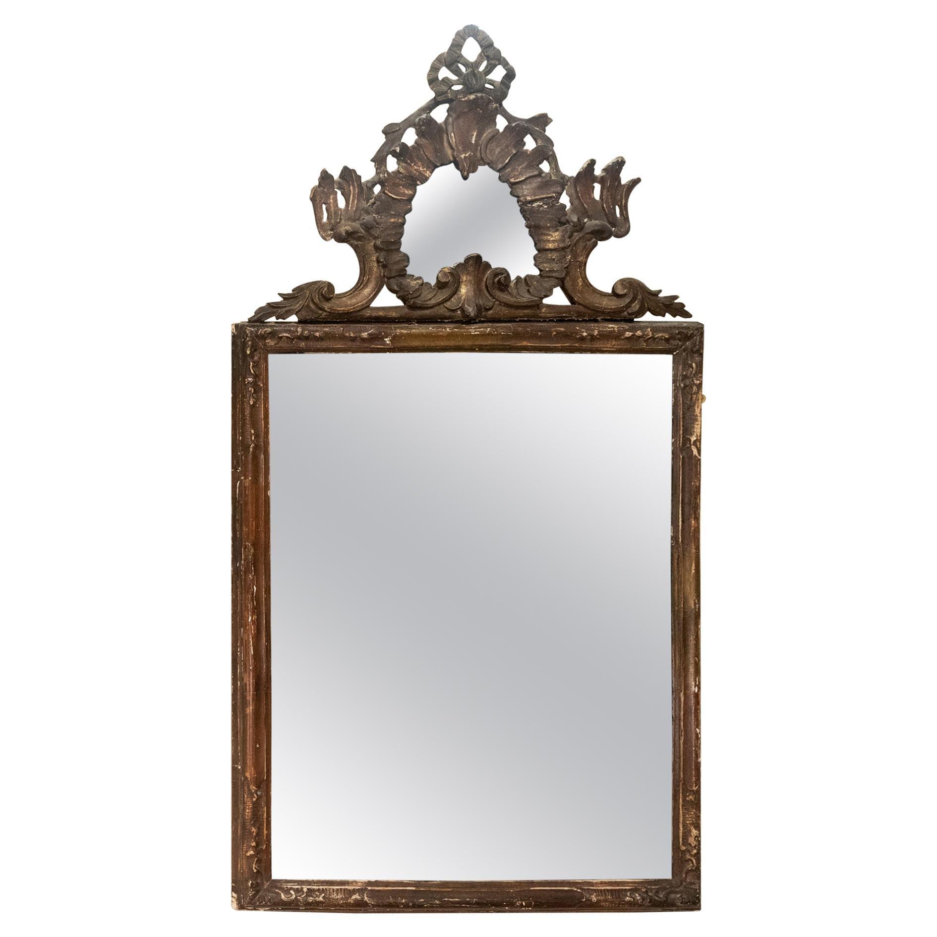 Large 18th Century Italian Rococo Wall Mirror