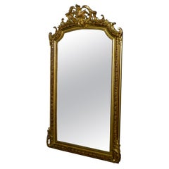 Large 19th Century French Gilt Wall Mirror