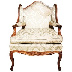 Large 19th Century French Louis XV Style Fauteuil