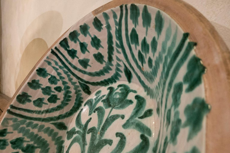 Stoneware Large 19th Century Spanish Granada Fajalouza