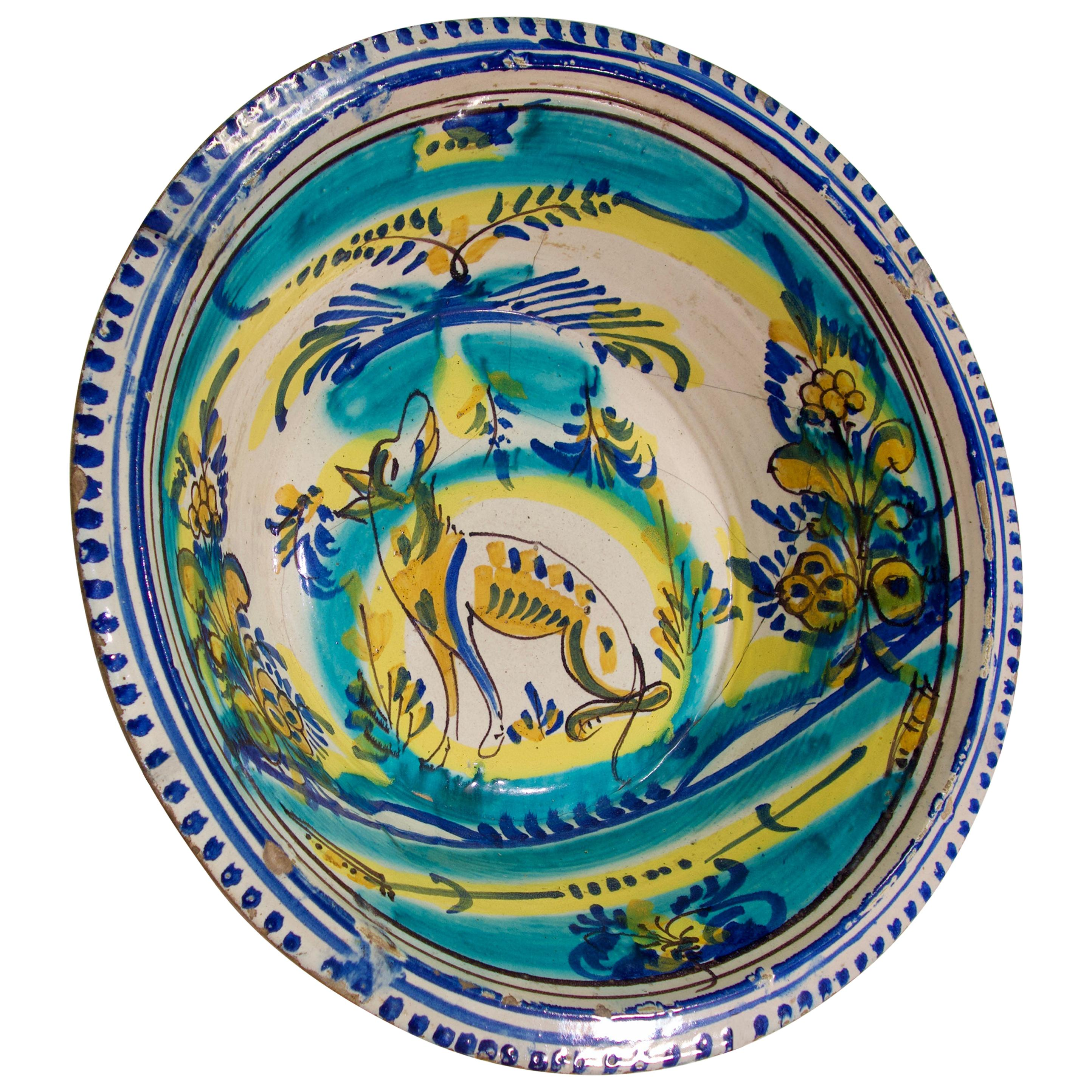 A Large 19th Century Spanish Lebrillo, Triana Bowl