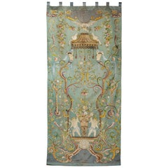 Large and Impressive Chinese Embroidered Silk Hanging, 19th Century