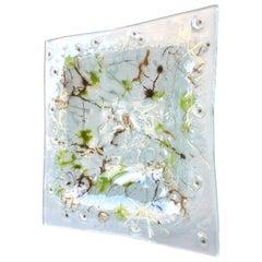 Large Blot Studio Fused Glass Ashtray by Higgins