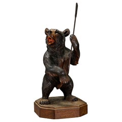 Large Carved Standing Bear, Brienz, 1933