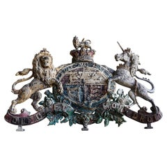 Large Cast Iron Royal Coat of Arms