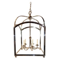 Large English Silver Plated Lantern
