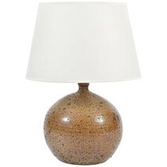 Large French 1960s Stoneware Lamp