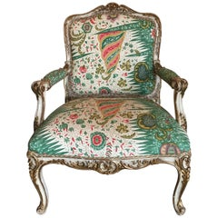 Large French Louis XV Style Fauteuil