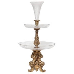 Christofle Silvered Bronze Centerpiece And Mirrored