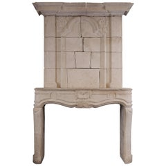 Large French Trumeau Fireplace
