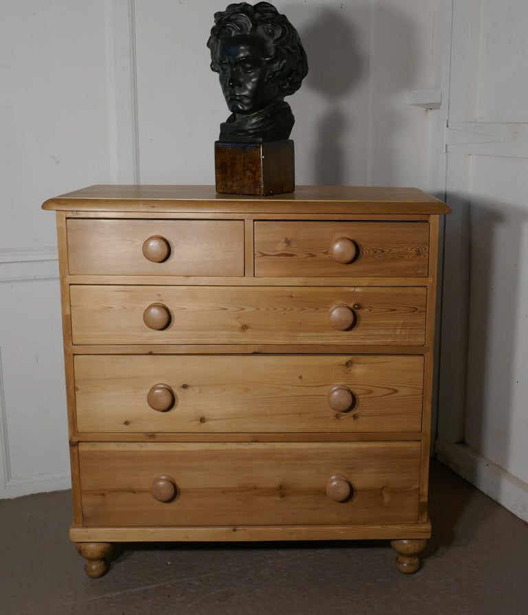 A large fully restored Victorian pine chest of drawers
