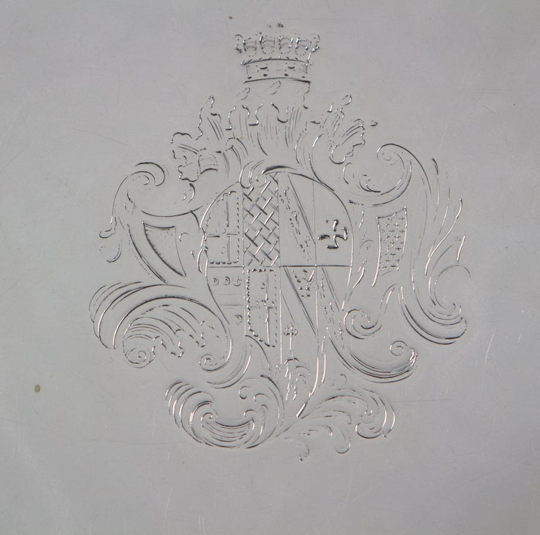 George IV Large George II Silver Salver London 1738 by John Tuite For Sale