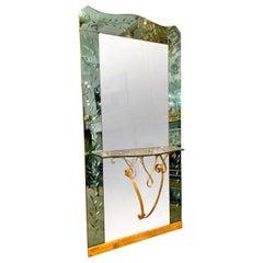 Large Italian Console Mirror by Pier Lugi Colli