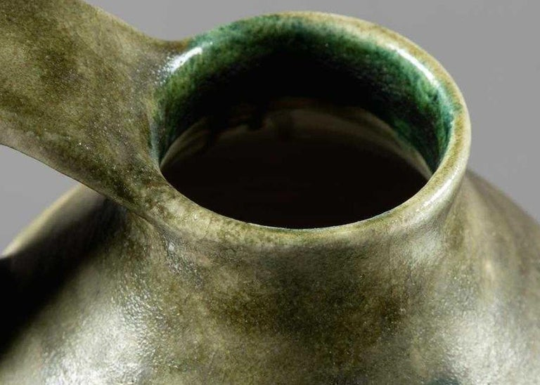 20th Century Large Italian Stoneware Pitcher by Guido Gambone For Sale